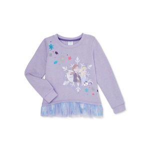 Disney Frozen 2 Elsa Anna Ruffle Sweatshirt